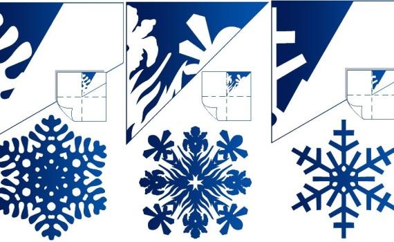 Как сделать снежинку из бумаги своими руками – схемы для вырезания, видео уроки, фото и мастер классы.