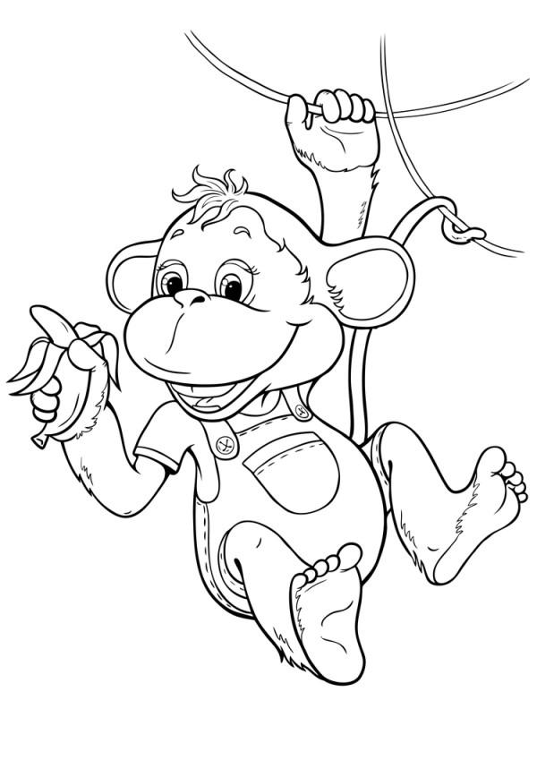 Открытки с днем рождения с обезьянками 52