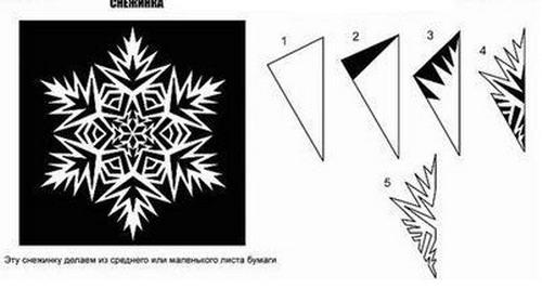 Схема как вырезать снежинку фото 927