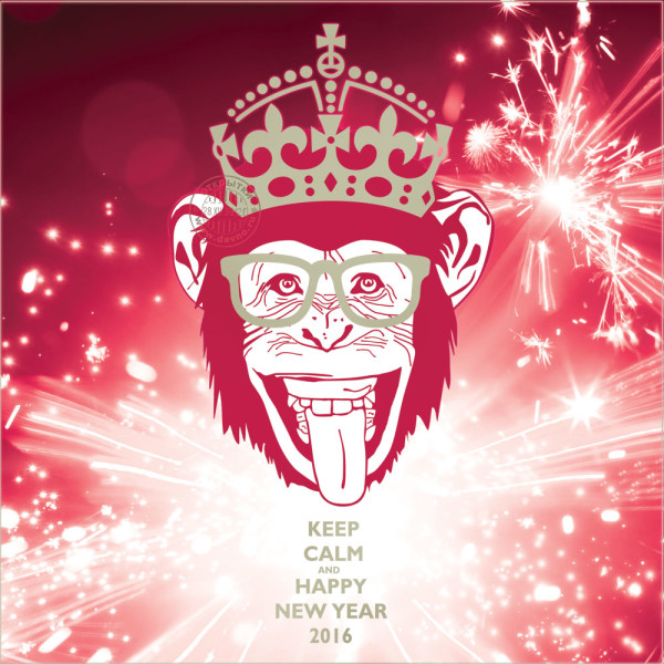Новогодние раскраски 2016 года обезьяны