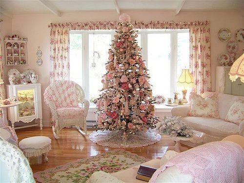 Украшение елки в стиле прованс.