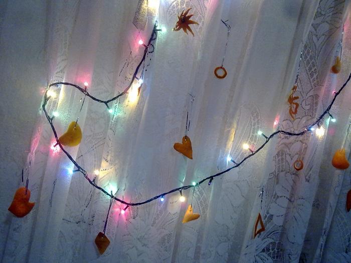 Новогодние украшения из апельсиновых корок
