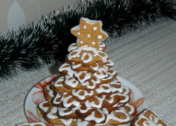 Пряничная елка - красивое новогоднее и рождественское украшение