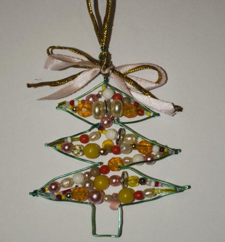 Новогодняя елка из проволоки своими руками