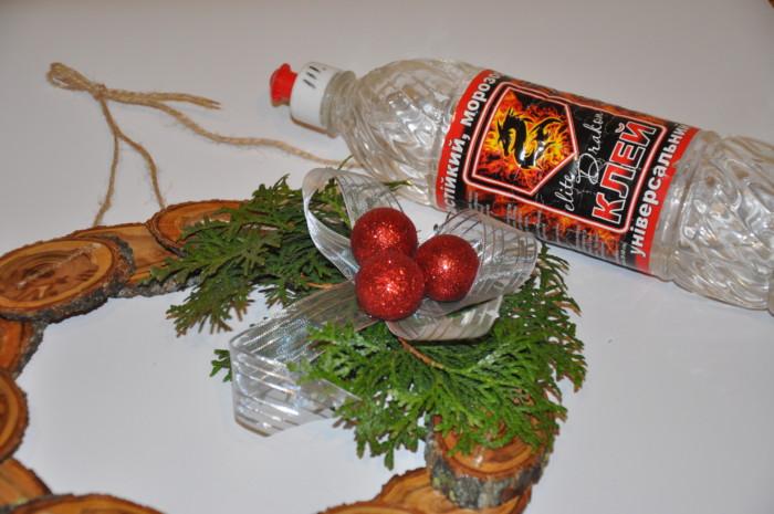 Новогодний или рождественский венок мастер-класс
