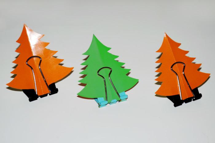 Новогодняя елочка из бумаги - поделки с пожеланиями
