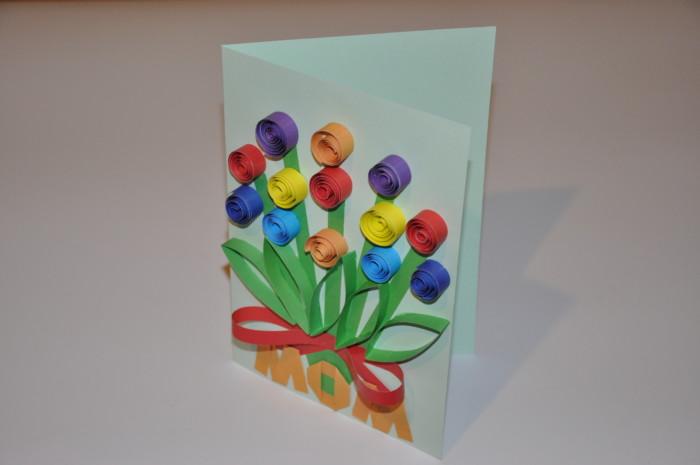 Объемные открытки на день матери своими руками