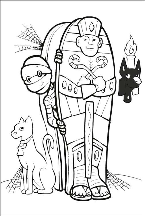 Раскраски мумия