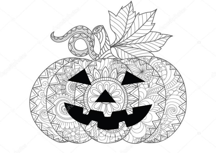 Раскраска антистресс на Хэллоуин