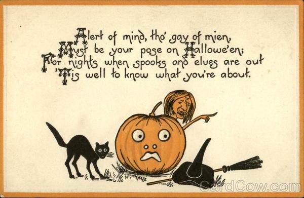 Открытки на Хэллоуин на английском языке