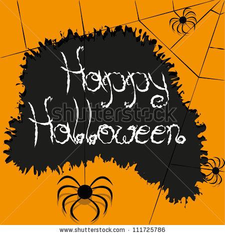 Страшные открытки на Хэллоуин с пауками