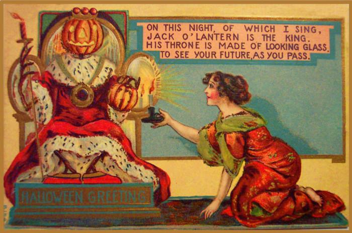 Милые ретро открытки на Хэллоуин