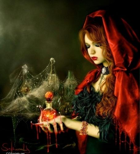 Страшные открытки на Хэллоуин с ведьмами