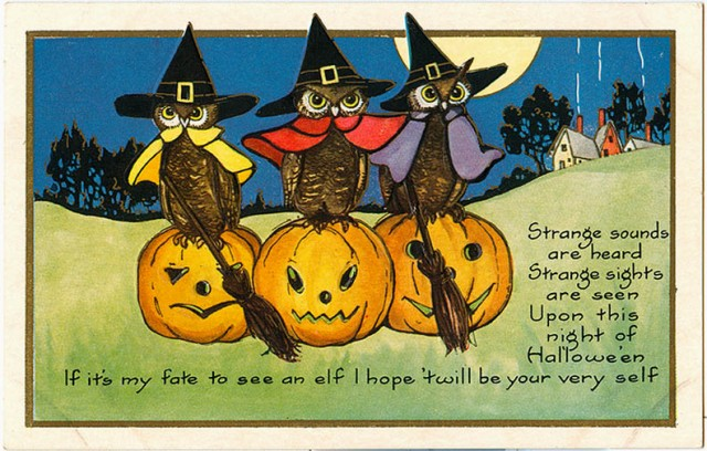 Винтажные открытки на Хэллоуин