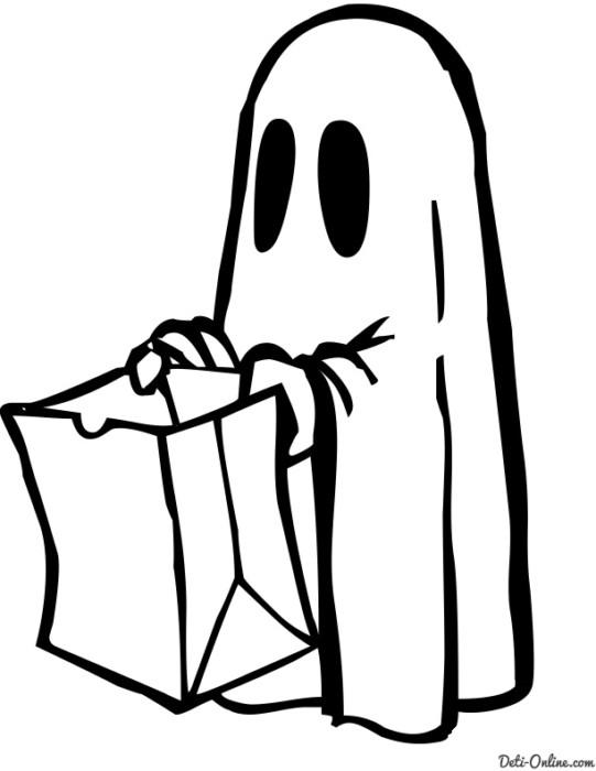 Привидения - раскраски на Хэллоуин