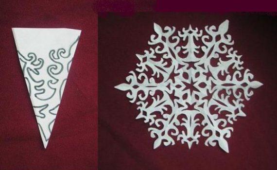 Красивые снежинки из салфеток своими руками