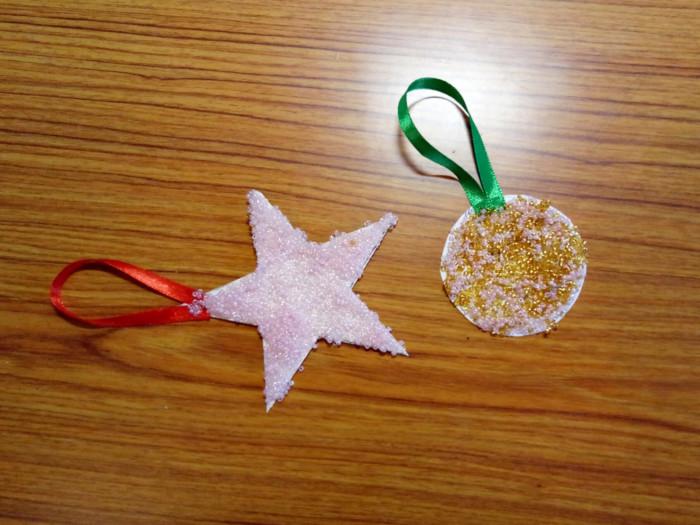Новогодние игрушки из бисера и картона на елку своими руками