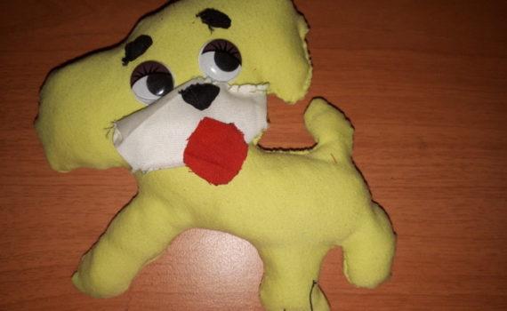 Новогодние собаки из ткани - символ года Собака своими руками