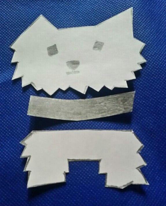 Аппликация собака из бумаги - символ года своими руками