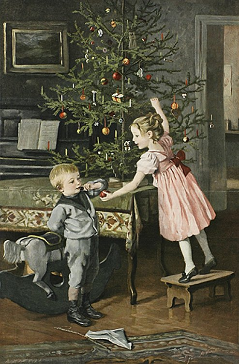Старые дореволюционные новогодние почтовые открытки
