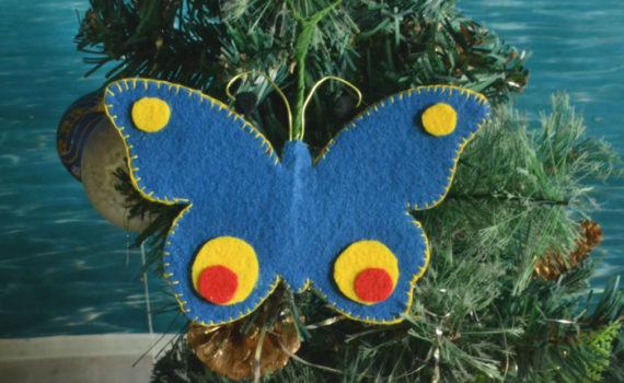 Бабочка из фетра - новогодние украшения для елки своими руками