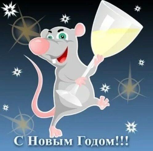 Прикольные открытки с Новым годом 2020 Крысы или Мыши