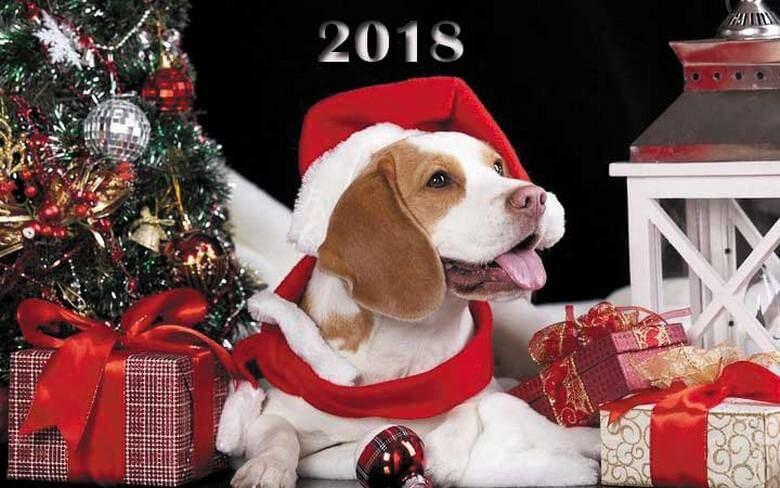 Красивые открытки на Новый год 2018