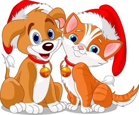 Оригинальные новогодние открытки с собаками