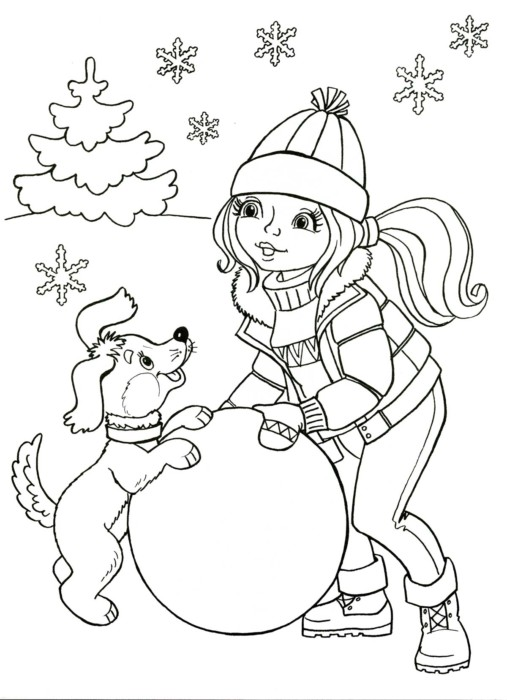 Лучшие новогодние раскраски с собакой - картинки-раскраски ...