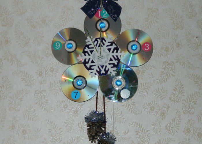 Как сделать поделку часы на новый год фото 107