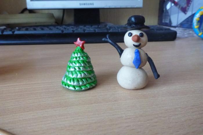 Новогодняя банка со снегом своими руками