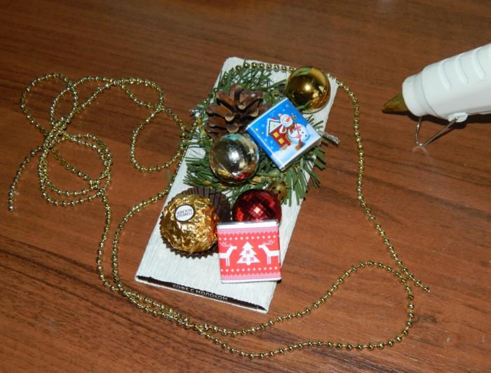 Шоколад в подарок - как оформить шоколадку в подарок своими руками