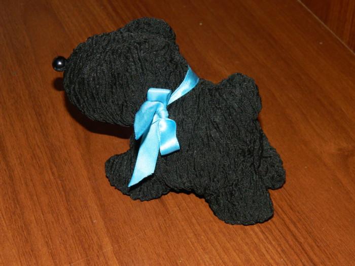Мягкая игрушка собачка из ткани своими руками