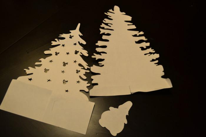 Новогодний ночник из бумаги своими руками