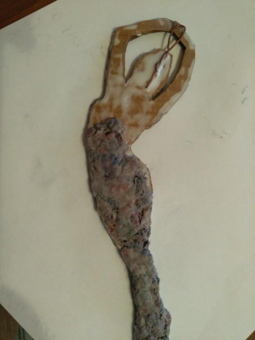 Снежинка-балерина из папье-маше своими руками