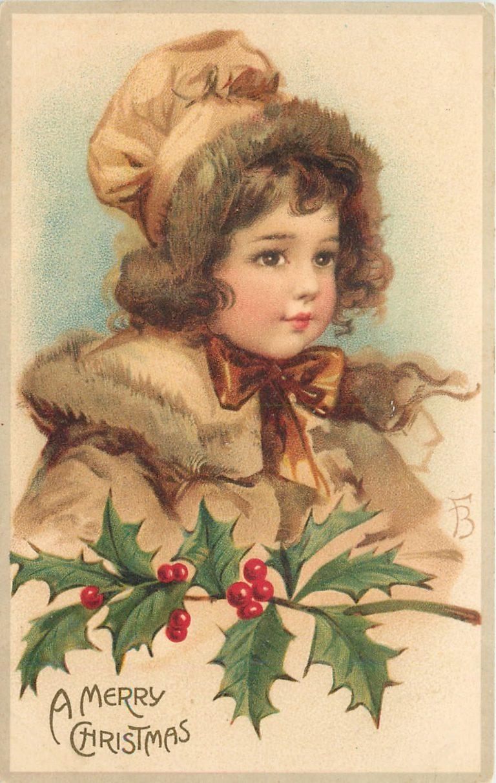 Старые рождественские открытки (91 фото) 22