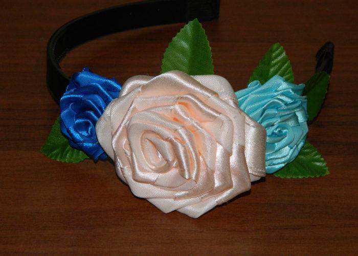 Розы из атласных лент своими руками для начинающих