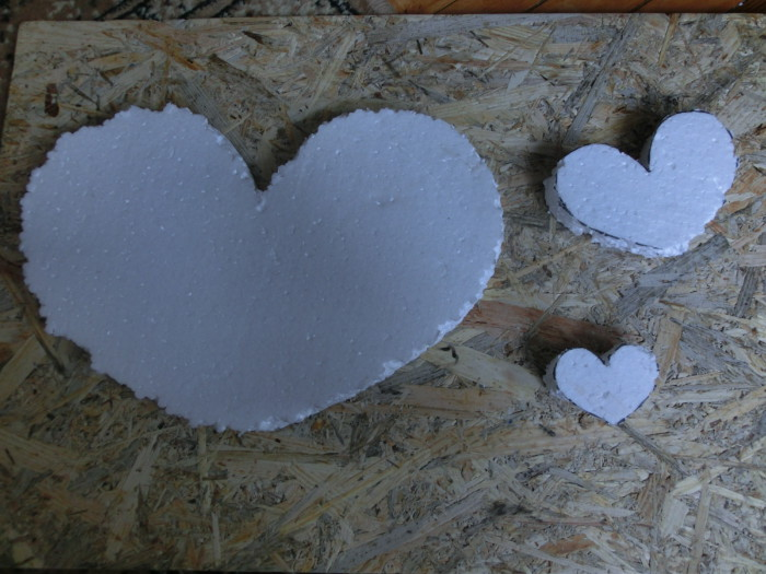 Сердце из роз из атласных лент - большая валентинка своими руками