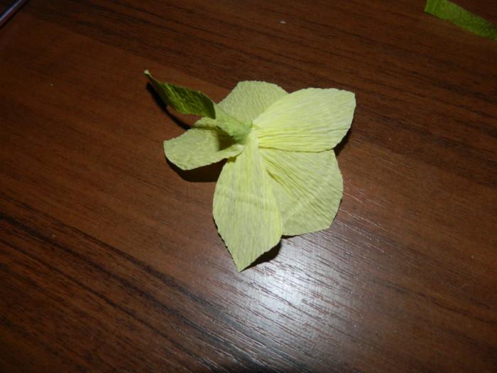 Орхидея из гофрированной бумаги своими руками