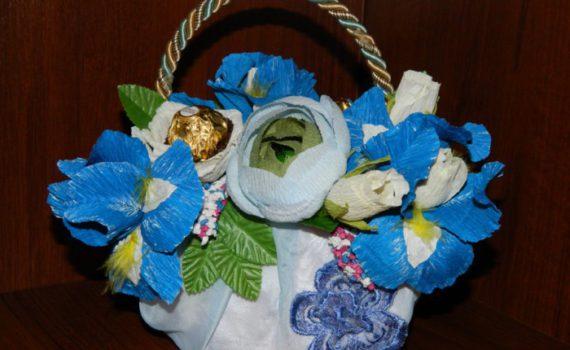 Сумка-основа для букета из конфет своими руками