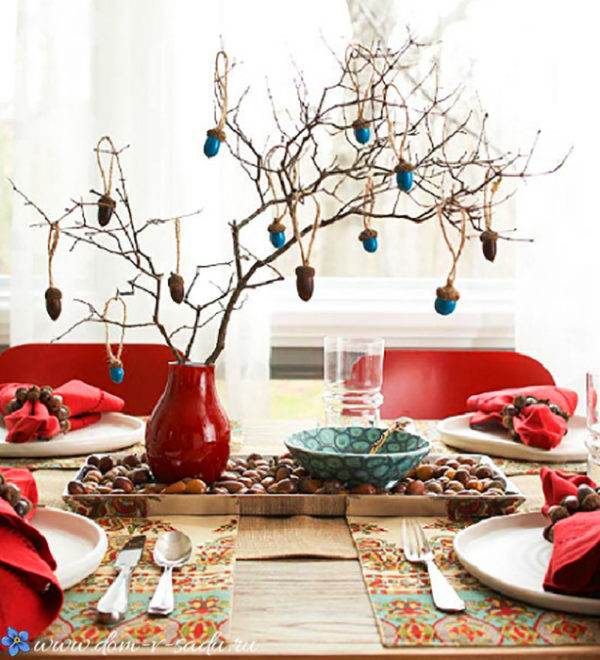 Новогодний декор в год Свиньи 2019 - оформление помещений, елки и стола