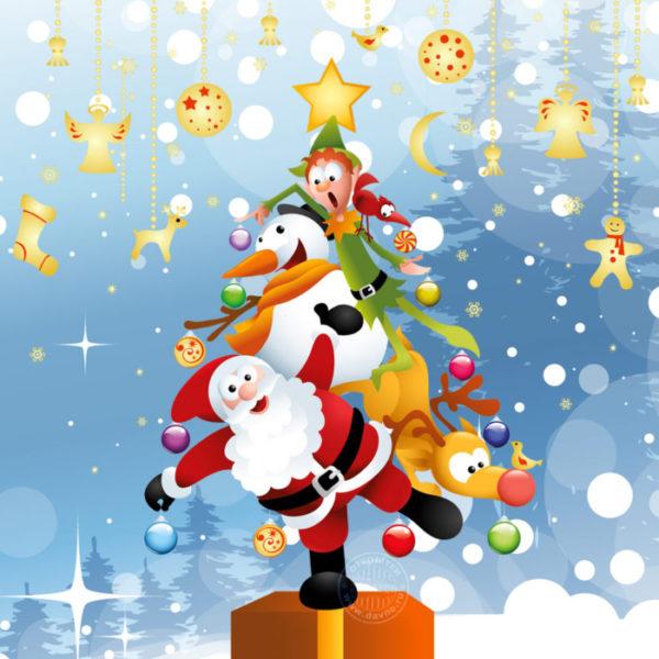 Виртуальные поздравительные новогодние открытки с годом Свиньи