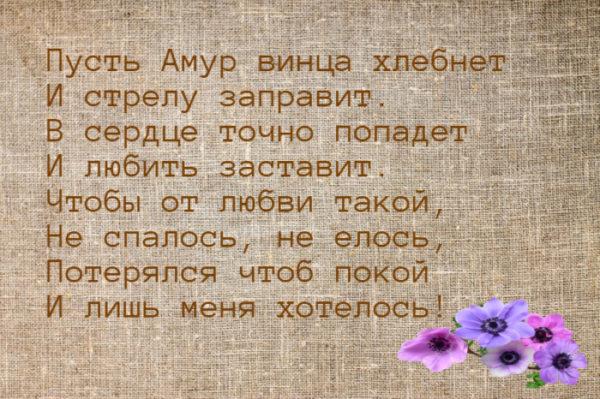 Прикольные и шуточные стихи-поздравления на день Влюбленных