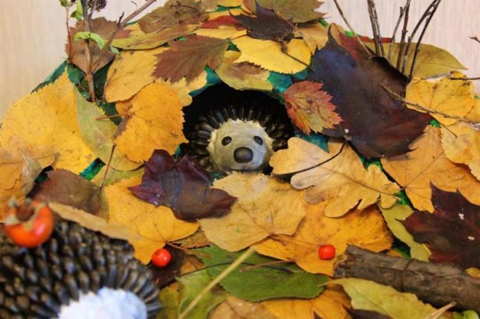 Поделки из листьев на тему Осень - красивые, простые и оригинальные