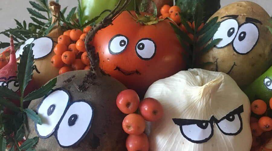 Детские поделки из овощей и фруктов - как сделать осенние поделки своими руками