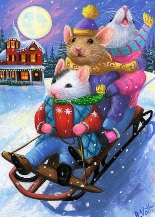 Интересные нарисованные картинки в год Крысы
