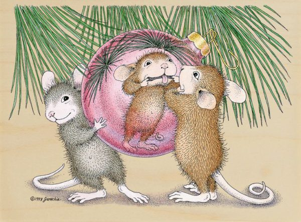 Оригинальные рисованные изображения с новогодними мышками и крысами