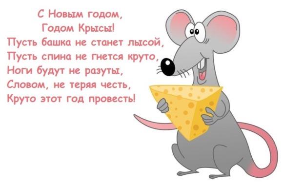Прикольные открытки с мышками или крысами с приветствием
