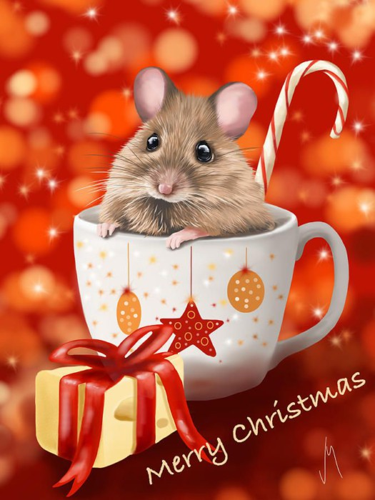 Новогодние обои на телефон в год Крысы, Мыши