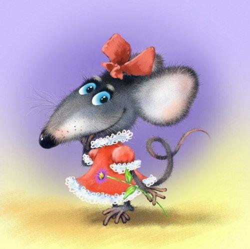 Прикольные новогодние обои на телефон в год Крысы, Мыши